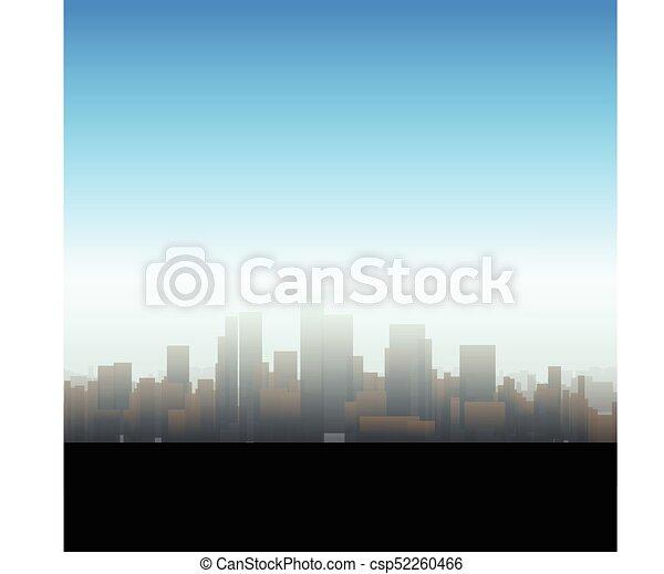 大きい, シルエット, 都市 - csp52260466