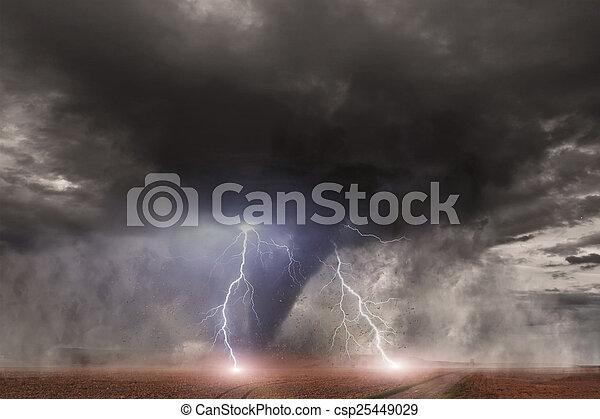大きい, トルネード, 災害 - csp25449029
