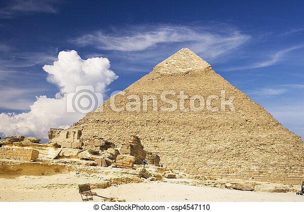 大きい ピラミッド, エジプト人 - csp4547110