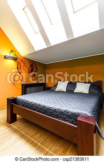 大きい, ベッド, 寝室 - csp21383611