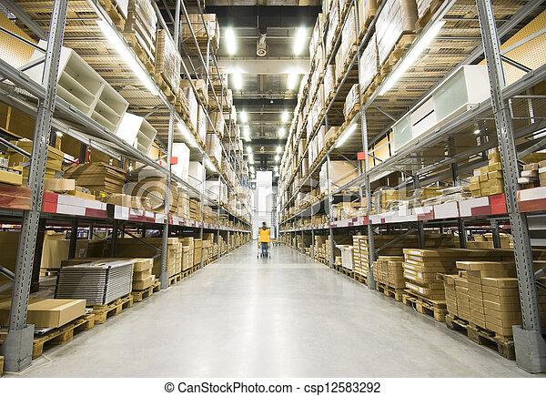 大きい, 倉庫, 家具 - csp12583292