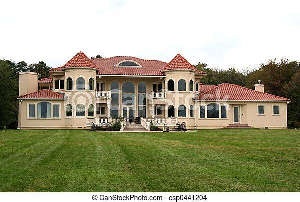 大きい, 家, 庭, 背中, 贅沢 - csp0441204