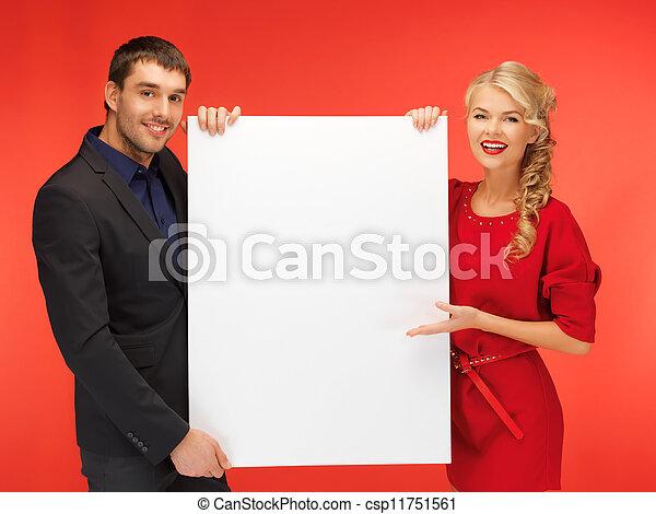大きい, 恋人, 板, 保有物, ブランク - csp11751561