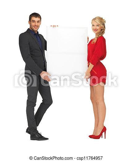 大きい, 恋人, 板, 保有物, ブランク - csp11764957