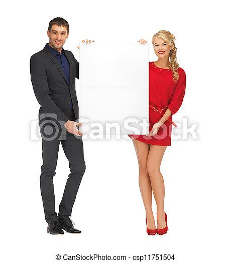 大きい, 恋人, 板, 保有物, ブランク - csp11751504
