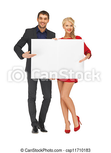 大きい, 恋人, 板, 保有物, ブランク - csp11710183