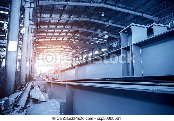 大きい, 鋼鉄, 倉庫, 工場 - csp50088561