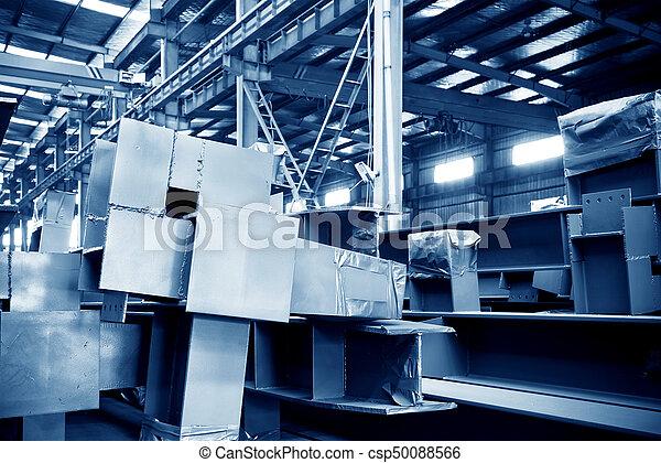 大きい, 鋼鉄, 倉庫, 工場 - csp50088566