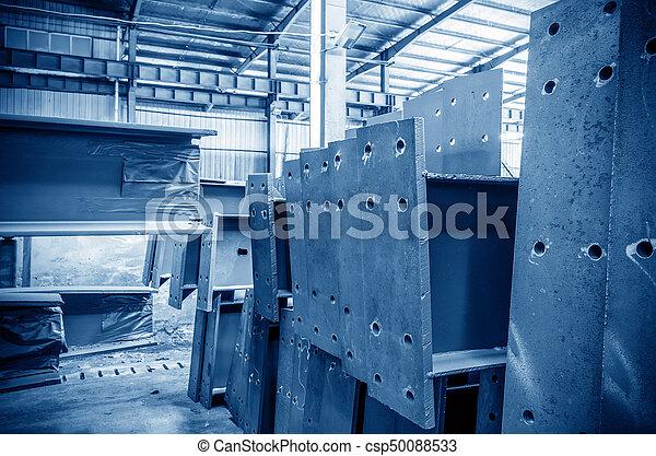 大きい, 鋼鉄, 倉庫, 工場 - csp50088533