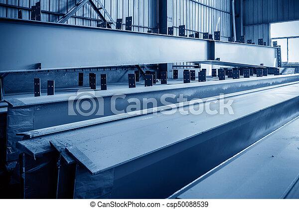 大きい, 鋼鉄, 倉庫, 工場 - csp50088539