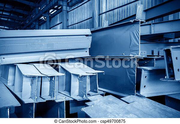 大きい, 鋼鉄, 倉庫, 工場 - csp49700875