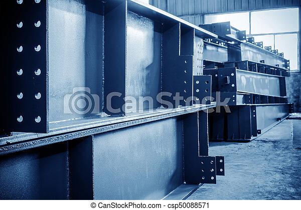大きい, 鋼鉄, 倉庫, 工場 - csp50088571