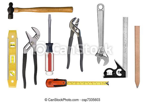 大工仕事, モンタージュ, 道具 - csp7335603