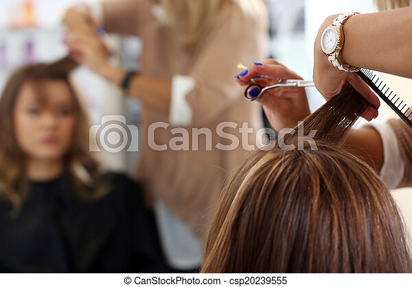 大広間, 美しさ, hairstyle., 美容師 - csp20239555