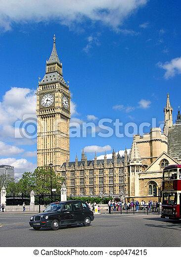 大本鐘, 倫敦 - csp0474215