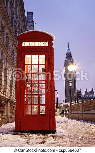 大本鐘, 電話, 倫敦, 布斯 - csp8564607