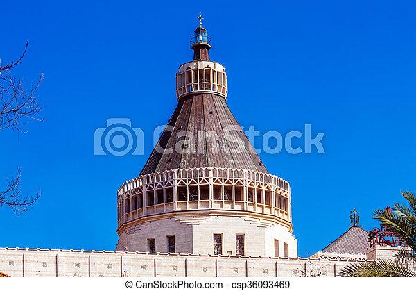 大聖堂, お告げの祝日, nazareth - csp36093469