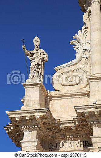 大聖堂, シラキュース, petrus, 使徒 - csp12376115