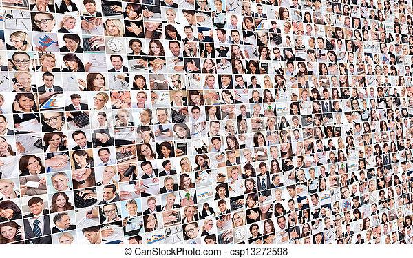 大, 圖像, 集合, 各種各樣, 事務 - csp13272598