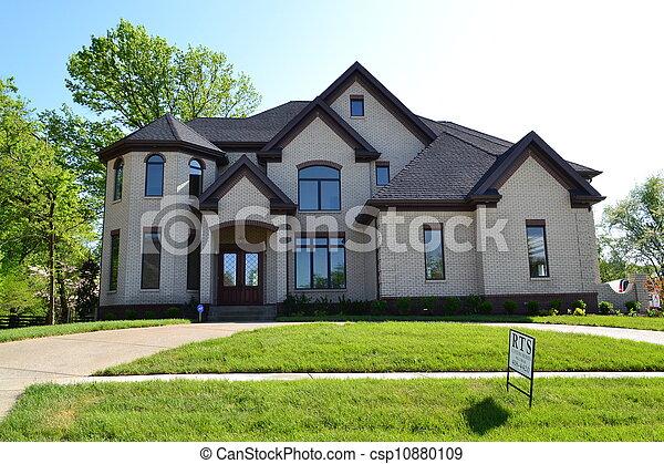 大, 家, 郊區 - csp10880109