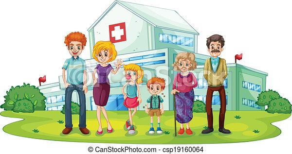 大, 醫院, 家庭 - csp19160064