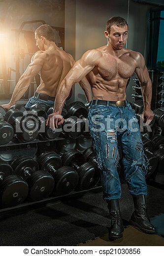 大, muscles., 人 - csp21030856