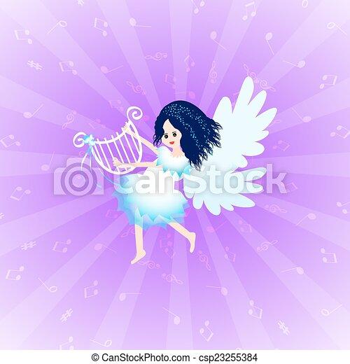 天使, リラ - csp23255384