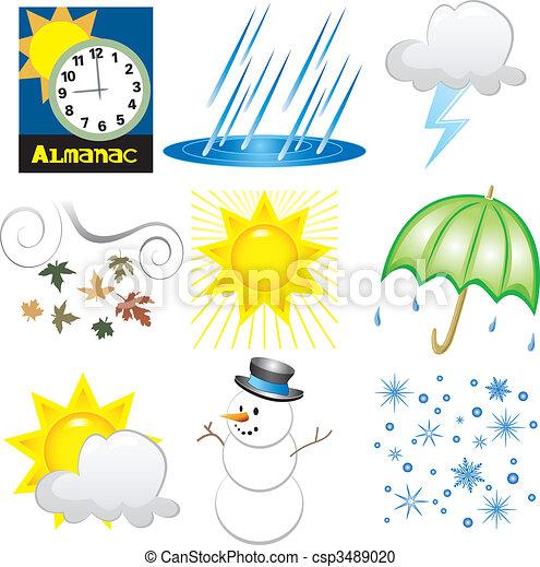 天候, アイコン - csp3489020