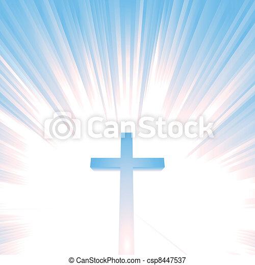 天国, キリスト教徒, 交差点 - csp8447537