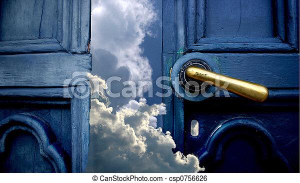 天国, ドア - csp0756626