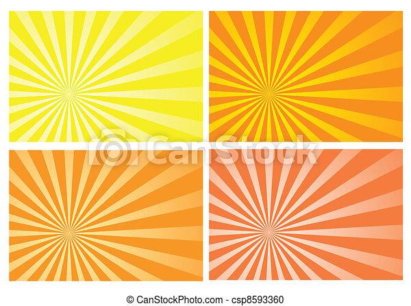太陽爆発, 黄色, 光線 - csp8593360