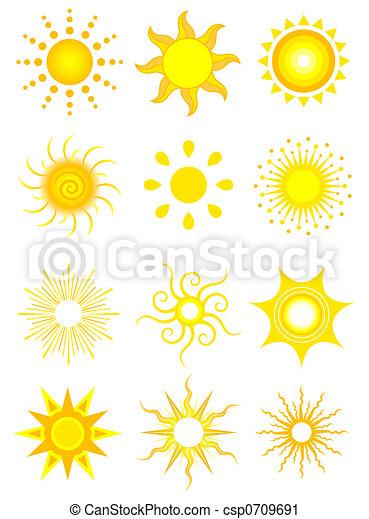 太陽, アイコン - csp0709691
