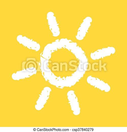 太陽, イラスト - csp37840279