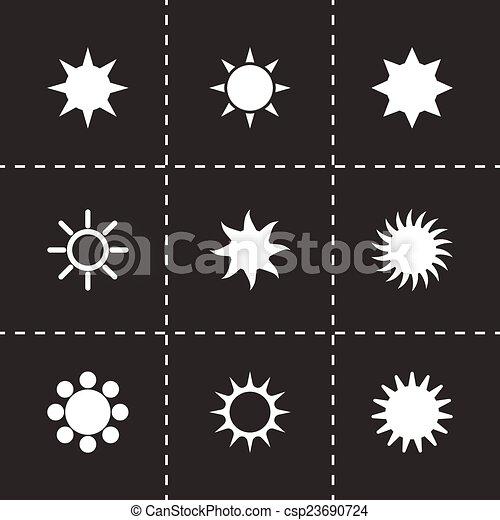 太陽, ベクトル, セット, アイコン - csp23690724