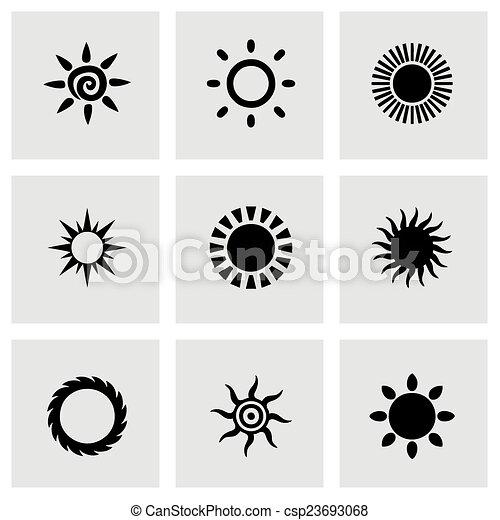 太陽, ベクトル, セット, アイコン - csp23693068