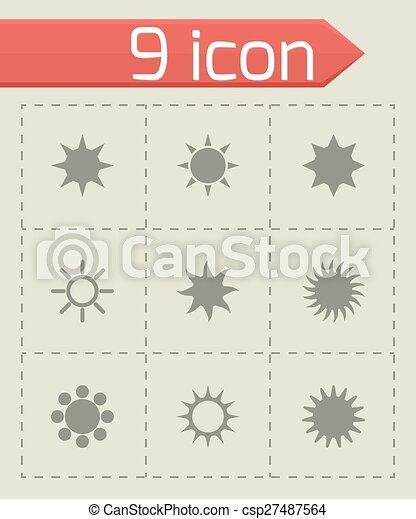 太陽, ベクトル, セット, アイコン - csp27487564