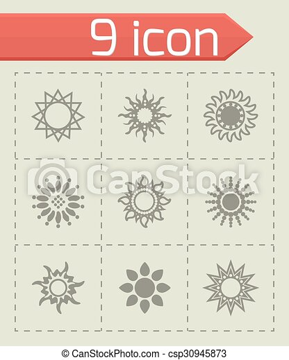太陽, ベクトル, セット, アイコン - csp30945873