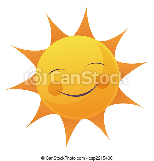 太陽, 漫画, 顔 - csp2215406