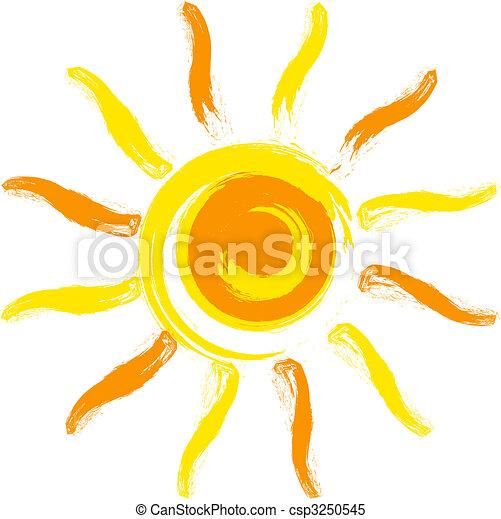 太陽, 矢量 - csp3250545