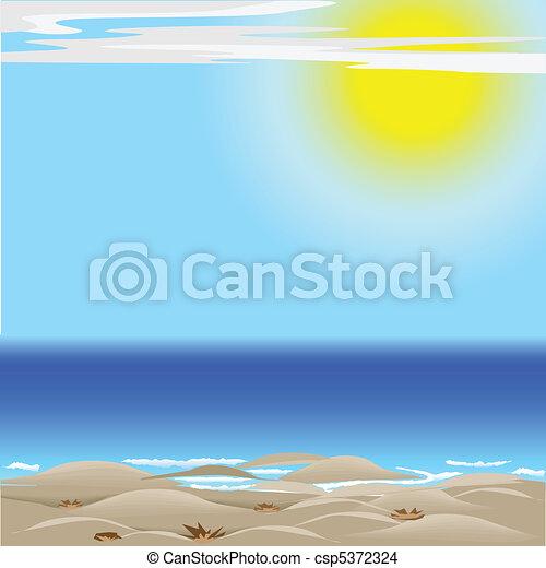 太陽, 砂の 海 - csp5372324