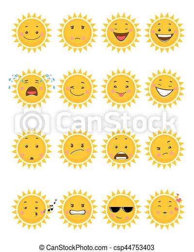 太陽, 16, emojis - csp44753403