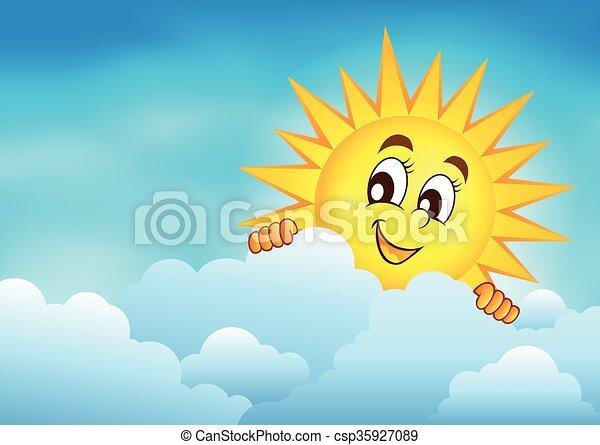 太陽, 3, 空, 曇り, 潜む - csp35927089