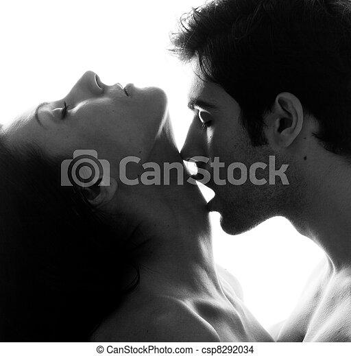 夫婦, 充滿熱情, 愛 - csp8292034