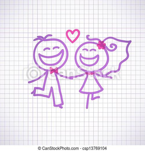 夫婦, 婚禮 - csp13769104