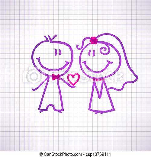夫婦, 婚禮 - csp13769111