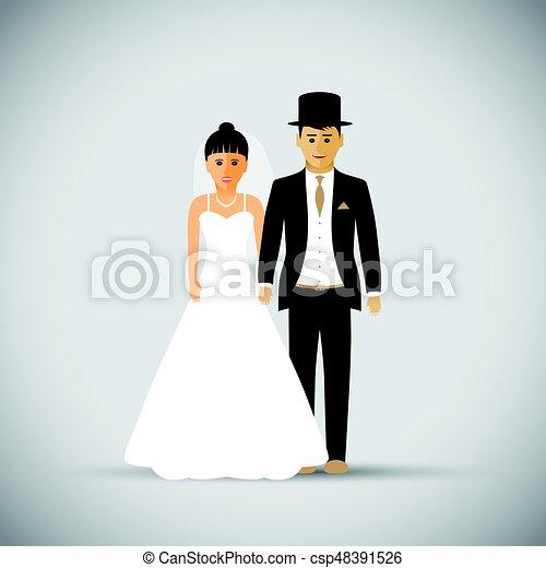 夫婦, 婚禮 - csp48391526