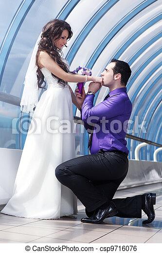 夫婦, 年輕, 婚禮 - csp9716076