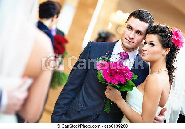 夫婦, 年輕, 婚禮 - csp6139280