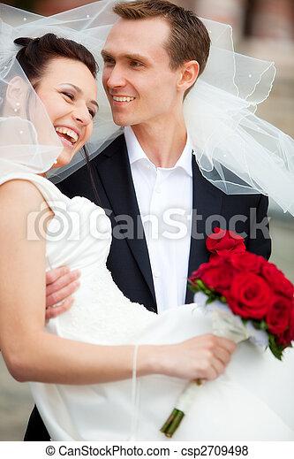 夫婦, 年輕, 婚禮 - csp2709498