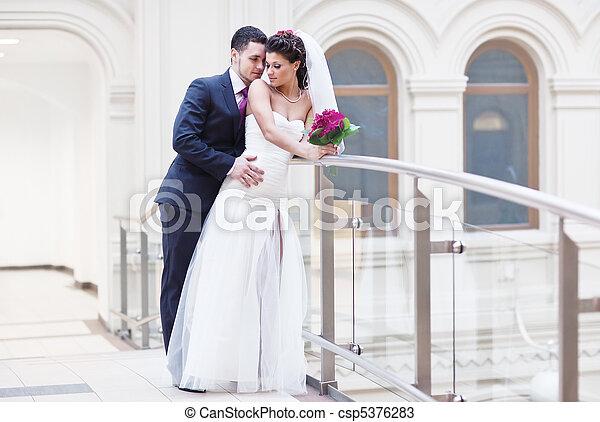 夫婦, 年輕, 婚禮 - csp5376283
